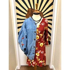 🌈 Beautiful floral picnic dress